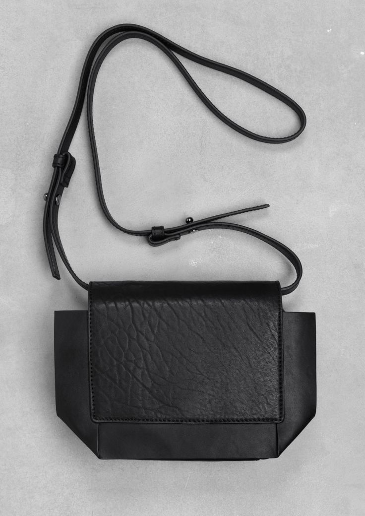 Style - Minimal + Classic: Leather mini shoulder bag   & Other Stories