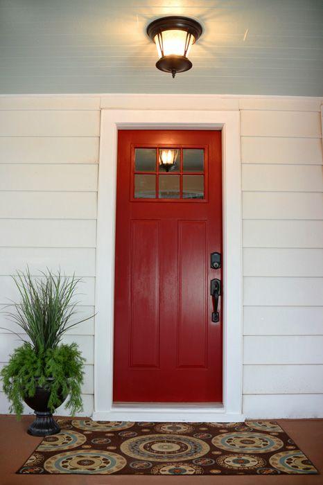 New Red Front Door   Non Fade Modern Masters Front Door Paint In The Color