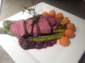 A Passion To Cook: Venison Tenderloin with a Blackberry Red Wine Sauce