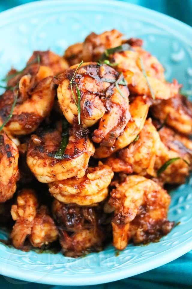 Shrimp with Thai chili paste