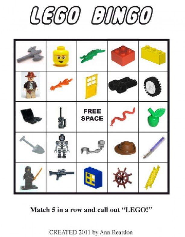 Lego bingo, Super leuk voor een lego-kinderfeestje. Gratis te downloaden via de bron.
