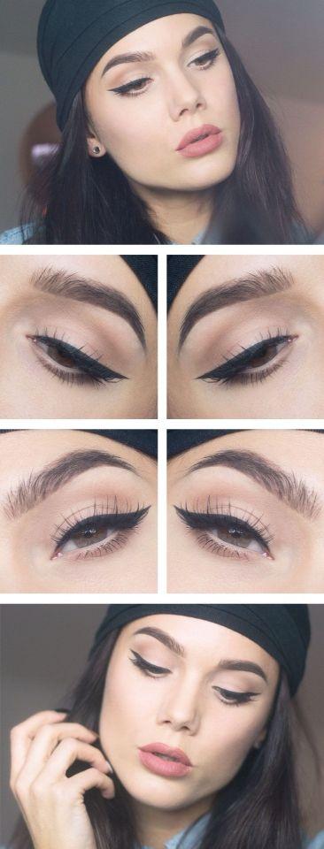 The eyeshadow and the eyeliner