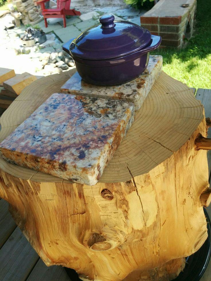 Planche à fromage fait de granit recycler !