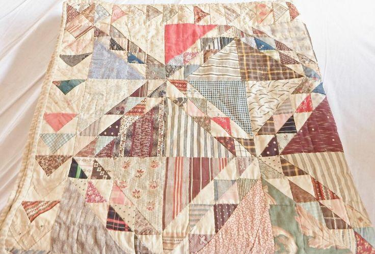Collectors Antique Handmade Quilt Ocean Wave Pattern Ca 1870 Boston MA, eBay, patriciaquiltsandmore