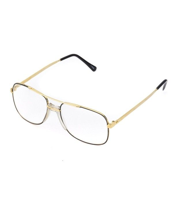 c34766b36b2 Retro Classic Square Translucent Clear Lens Aviator Glasses - Black ...