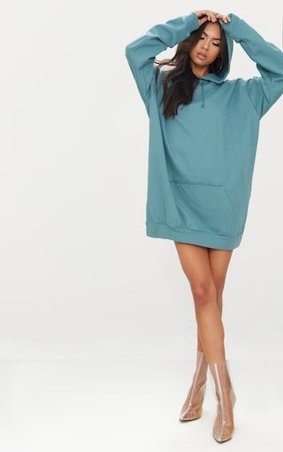 40a69880f143e5 Mineral Blue Oversized Hoodie Dress | Hoodie | Hoodies, Hoodie dress, Oversized  hoodie dress