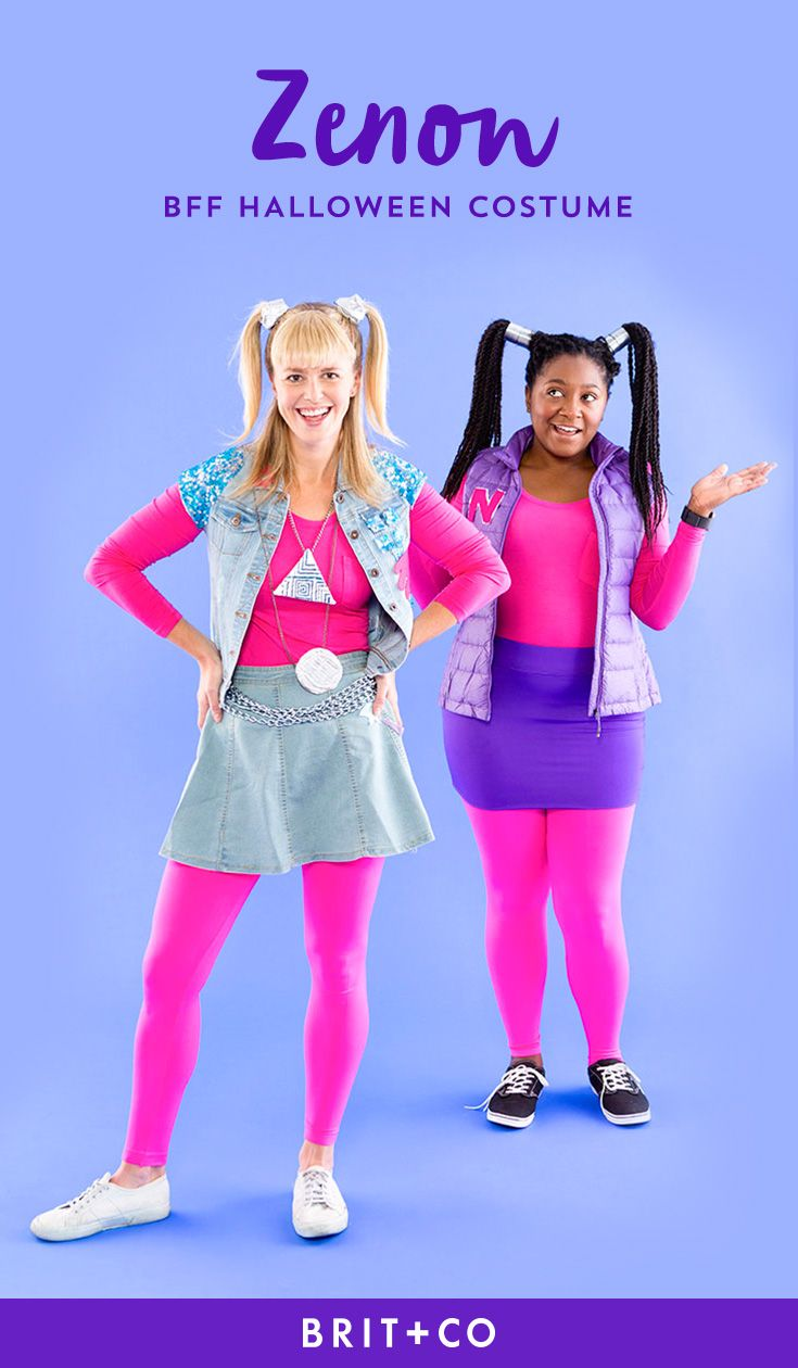 Bookmark this DIY BFF costume idea to learn how to dress up as Zenon + Nebula from Zenon: Girl of the 21st Century.