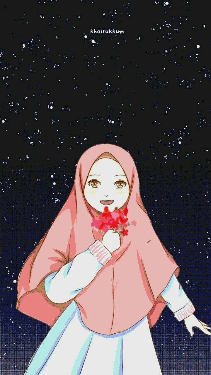 Pin oleh Elmas di Güzel anime kız di 2020 Seni islamis