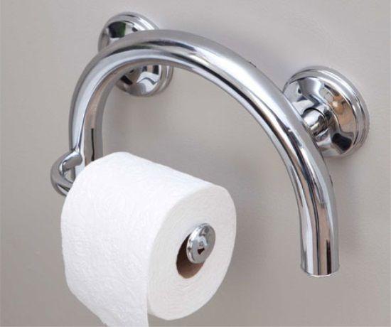 Toilet roll holder/grab bar. #grabbar #seniorsliving