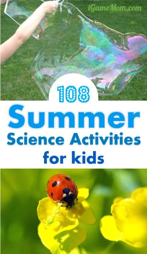 What are you going to do in summer? Schedule some hands-on science activities for kids, in your backyard, at the park, in your kitchen -- bird, bug, rain, wind, sun, moon, sand, water, ice, ... so many interesting topics! Summer STEM for kids.
