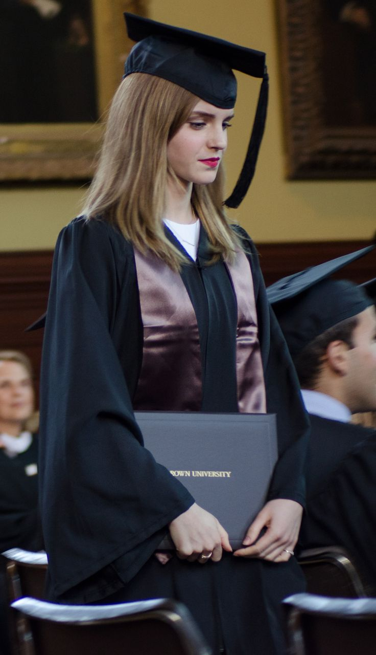 Emma Watson - graduates from Brown University