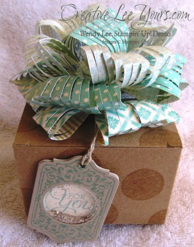 Clipped Bow from my Bows, Bows, Bows Class, Gift Bow Bigz L Die,  by Wendy Lee, #creativeleeyours, Stampin Up!,