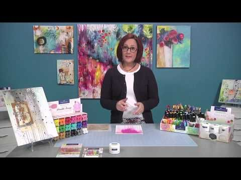 Design Elements for Painting Mixed Media Flowers with Carrie Schmitt - YouTube