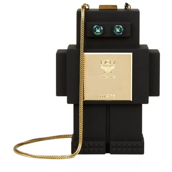 MCM Roboter Clutch Bag ($1,505) ❤ liked on Polyvore featuring bags, handbags, clutches, mcm purse, black handbags, black clutches, mcm handbags and black purse