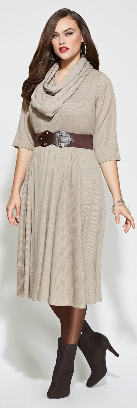 Gorgeous Plus Size Sweater Dress $74.00