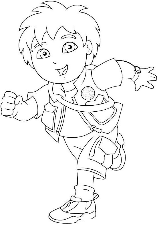 pictures go diego running coloring pages diego coloring pages kidsdrawing free coloring pages