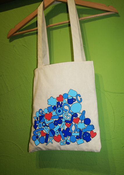 Tetris Tote Bag de Mr. Rancio! Ilustración por DaWanda.com #handmade #totebag #tetris