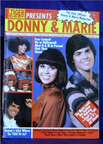 Tiger Beat Presents Donny & Marie TV Show Scrapbook Magazine 1977 #1