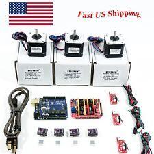 Arduino CNC Kit w/ Atmega16u2 UNO + Shield+ Stepper motors DRV8825 Endstop GRBL