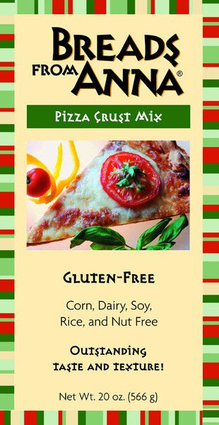 """Gluten-free Pizza Crust Mix - Pizza Crust Mix: Gluten, Corn, Dairy, Soy, Rice, Nut (including peanuts) and GMO Free. Our Pizza Crust Mix is easy to prepare and one package will yeild four 18"""" crusts.  The Pizza Crust Mix also works well if you prefer a deep dish pizza."""