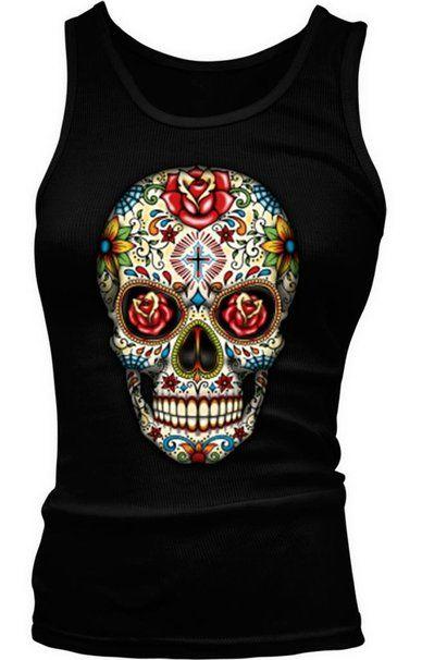 Sugar Skull tank top http://www.skullclothing.net