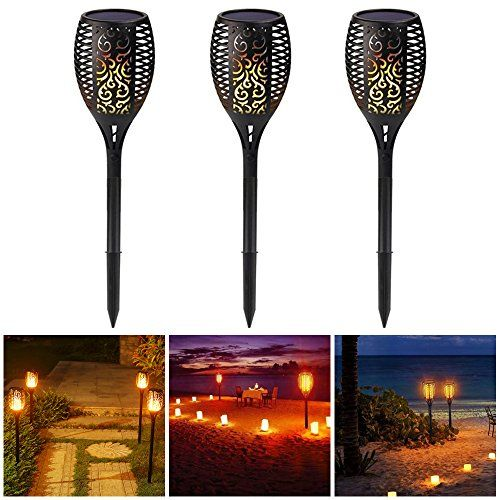 SUPOW Solar Lights, Garden Solar Torches Lights 96 LED
