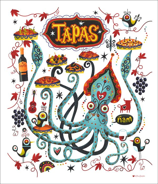 Tapas Trail by Steve Simpson, via Behance