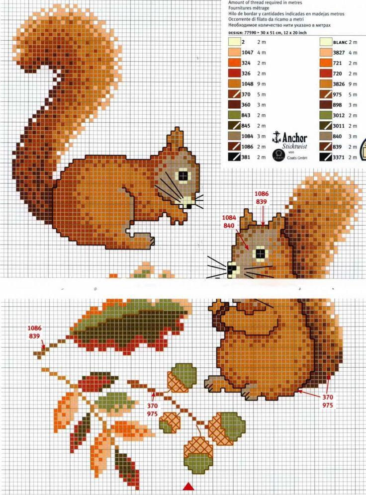 GRAFICOS PUNTO DE CRUZ GRATIS : ANIMALES(37)