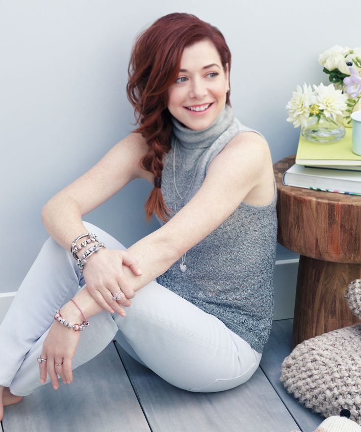 Alyson Hannigan from the it series 'How I met your mother' wearing a stacked…