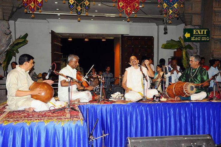 Sri Sri Vidyabhushan offering Sangeeta Seva
