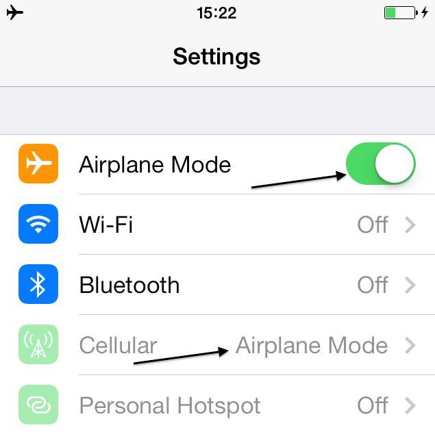 Iphone Airplane Mode International Travel