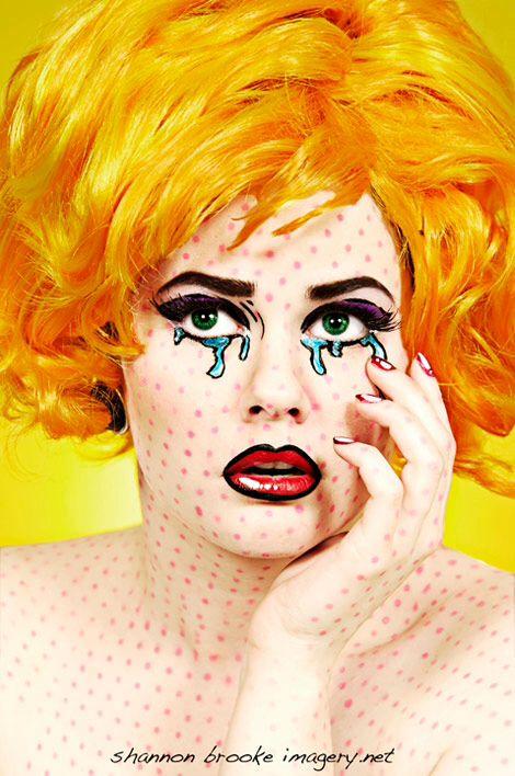Halloween makeup. Comic book