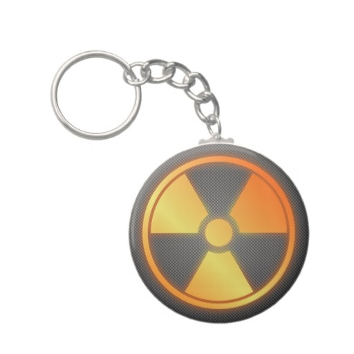 radioactive carbon fiber key chain by BannedWare