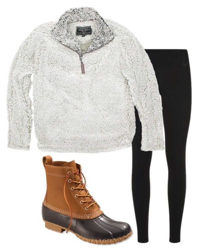 """""""❄️snow day ❄️"""" by preppy-lilly-girl on Polyvore featuring NIKE, True Grit and L.L.Bean"""