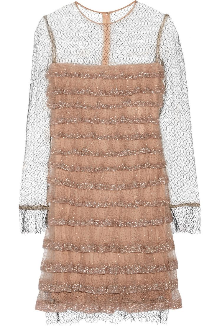 VALENTINO Bead-embellished tulle dress $2,198.38 http://www.theoutnet.com/products/663723