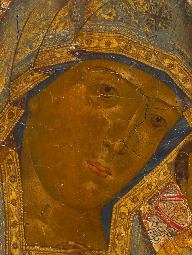 Detailed view: VV010. Virgin of Kazan- exhibited at the Temple Gallery, specialists in Russian icons