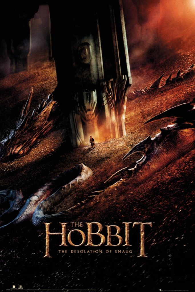 The Hobbit Desolation of Smaug Dragon - Official Poster