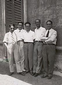 "Gruppo dei ragazzi di via Panisperna-In 1926 Enrico Fermi (teaching activity) was assigned the first Chair of Theoretical Physics in Rome. The teaching of this subject had been introduced in Italy by Corbino. A group of young scientists: (Edoardo Amaldi, Emilio Segre, Franco Rasetti, Ettore Majorana joined Fermi to form the so-called ""Via Panisperna group"". Rasetti, Segre, Amaldi and the chemist Oscar D'Agostino, led by Fermi, discovered the neutron-induced radioactivity in 1934. In the same…"