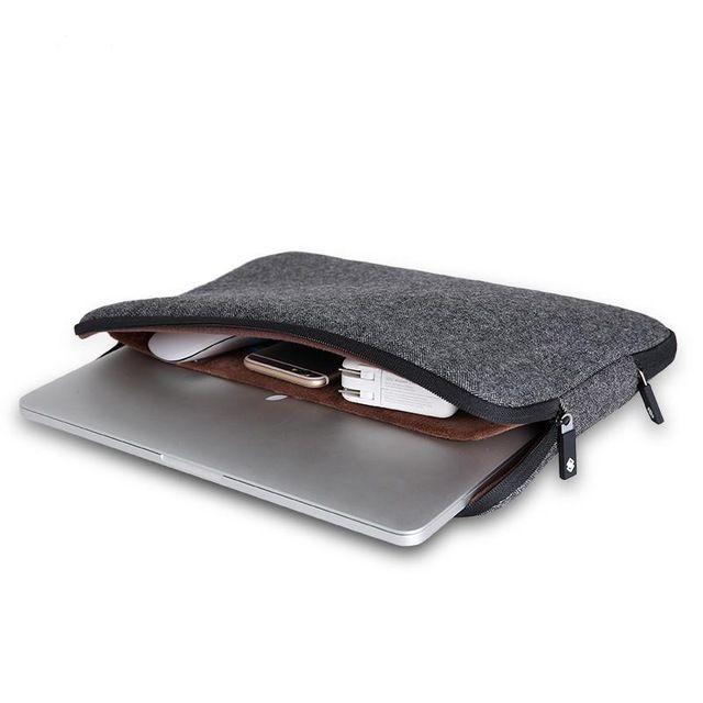 Top Selling Men Felt Waterproof Laptop Bag 11 12 13 14 15 15.6+Free Keyboard Cover for Macbook Air/Pro 13 Laptop Sleeve Case 13
