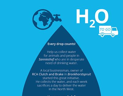 """Check out new work on my @Behance portfolio: """"H2O to GO - Water Collection drive"""" http://be.net/gallery/33040741/H2O-to-GO-Water-Collection-drive"""