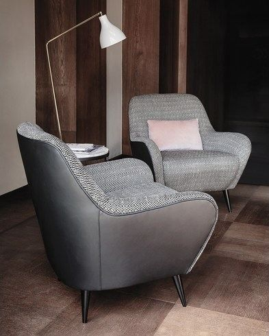 650 NIDO Armchair with armrests by Vibieffe design Alessandro Buccella