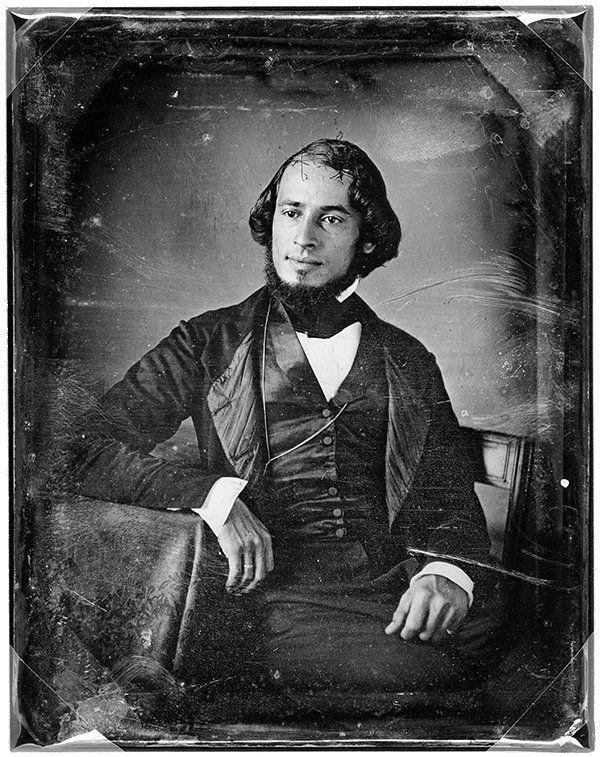 Solomon Nunes Carvalho, auto-retrato, cerca de 1850 Colecções da Biblioteca do Congresso dos Estados Unidos da América, Washington, E.U.A.