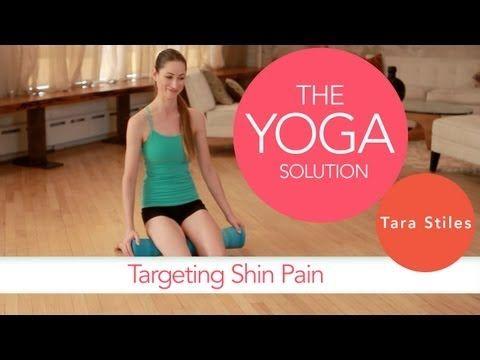 Targeting Shin Pain | The Yoga Solution With Tara Stiles - yoga video