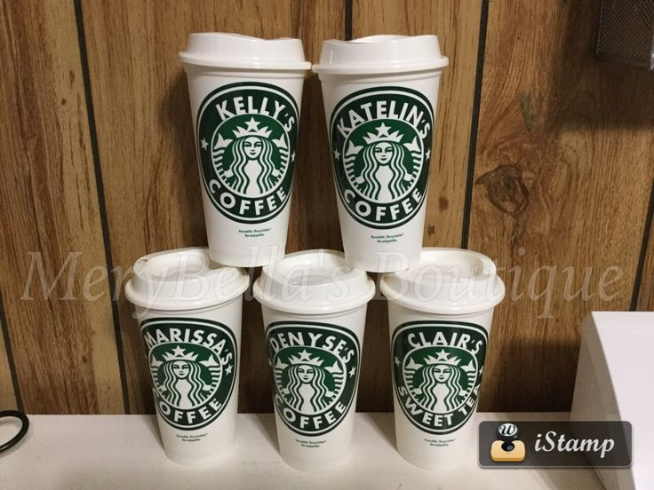 Personalized Starbuck plastic Cups , custom reusable plastic cups,coffee, tea,drink cups,16 oz cups by MeryBellasBoutique on Etsy