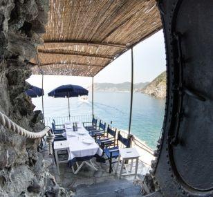 Restaurant Belforte, Vernazza, Italy.