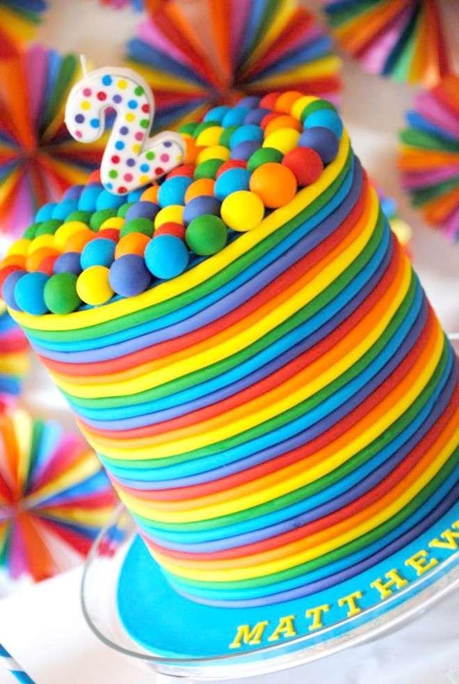 Ricetta rainbow cake o torta arcobaleno - Torta arcobaleno per bambini