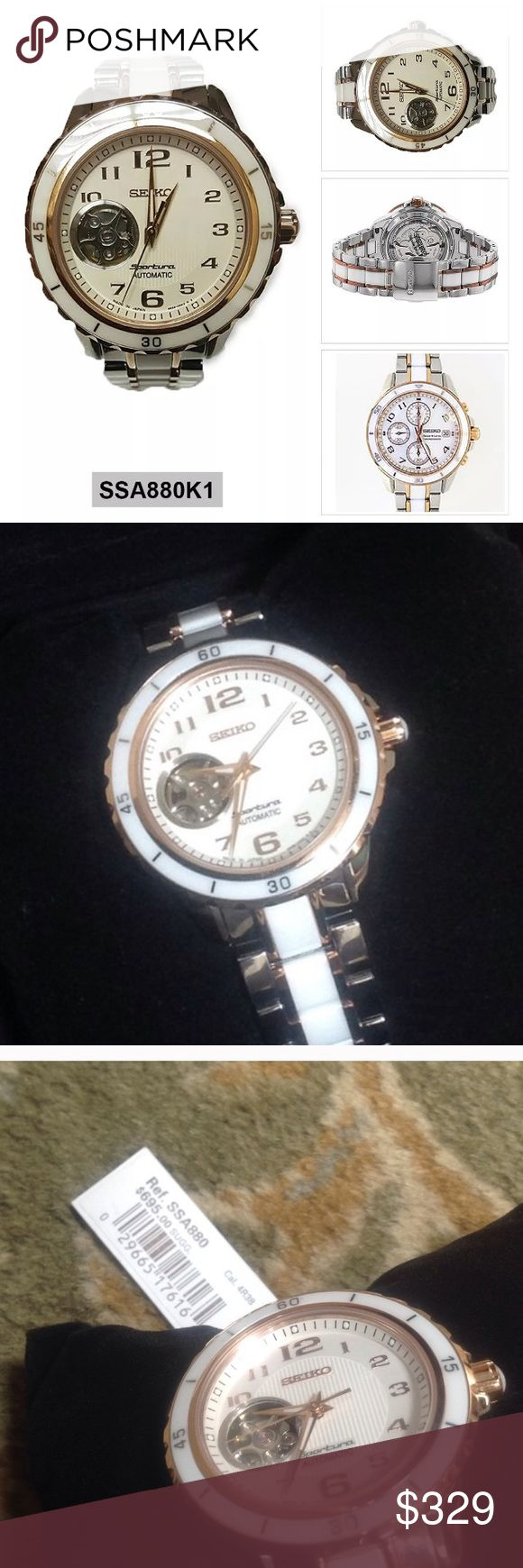 Seiko sportura $700 new rose gold ceramic watch Brand new seiko sportura ceramic watch with $700 price tag attached. Includes original box . A great deal! Seiko Accessories Watches