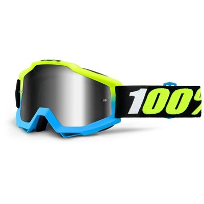 An intense silver and an awesome look yet behind it all you'll get 100% Accuri Pegasus Motocross Goggles for a good fit & clear vision!