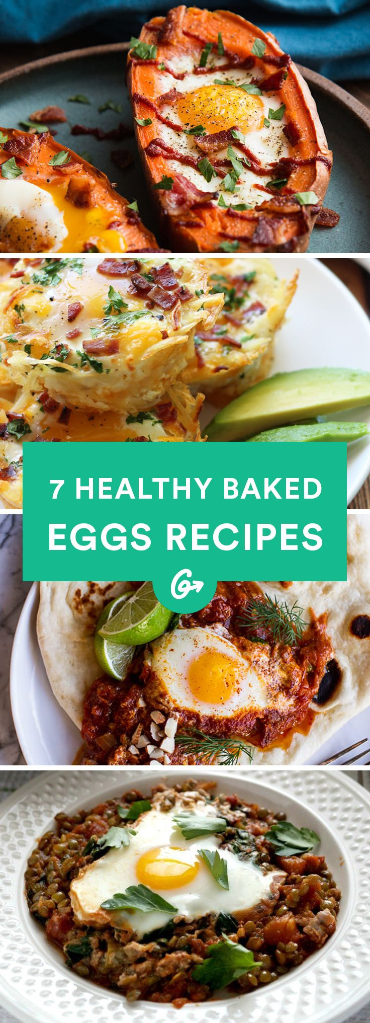 These recipes pack in protein, vegetables, and tons of flavor. #bakedeggs #recipes http://greatist.com/eat/baked-eggs-recipes-you-can-eat-any-time-of-day
