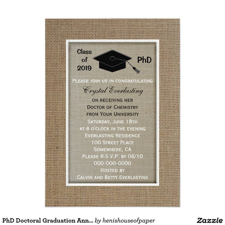 sample open house graduation party invitations%0A PhD Doctoral Graduation Announcement Invitation